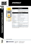 MAXX-GEAR TDS | Spraymaalit