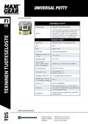 MAXX-GEAR TDS | Universal Putty - Yleiskitti