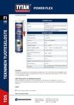 TYTAN TDS | Power Flex Värilliset
