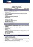 TYTAN MSDS | Power Flex Värilliset